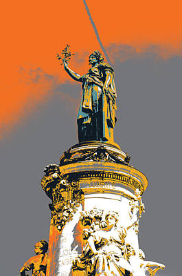 La Republique Monument Art Print by Shay Culligan