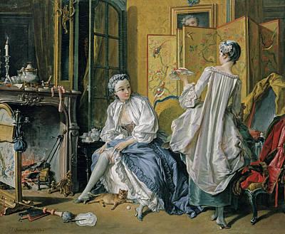 Dressing Painting - La Toilette by Francois Boucher