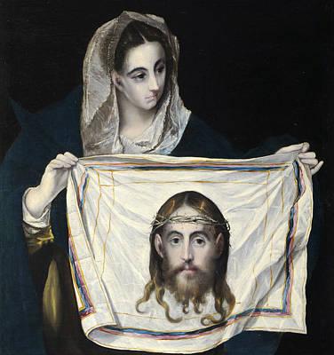 Volto Painting - La Veronica by El Greco