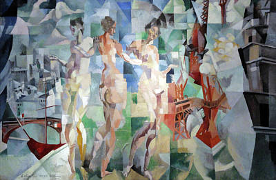Lyrical Abstractions Painting - La Ville De Paris by Robert Delaunay