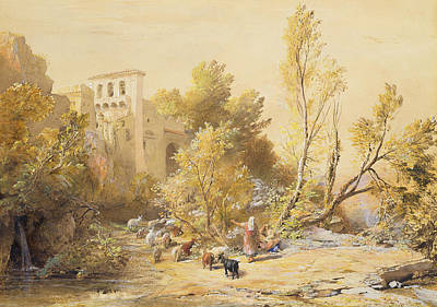 Goat Drawing - La Vocatella by Samuel Palmer