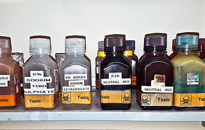 Good Practices Photograph - Laboratory Chemicals by Tom Gowanlock