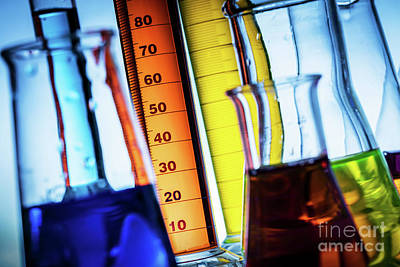 Photograph - Laboratory Glass Filled With Colorful Substances. by Michal Bednarek