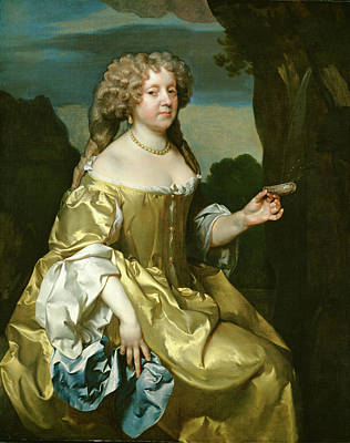 Painting - Lady Borlase by Gerard Soest