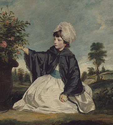 Lady Caroline Howard Print by Sir Joshua Reynolds