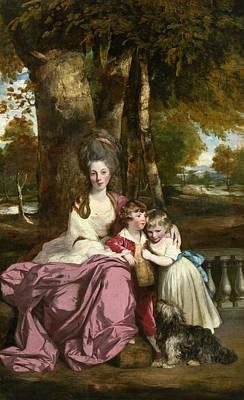Lady Elizabeth Delme And Her Children Art Print