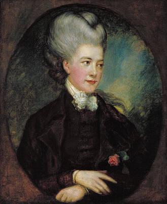 Ladies Painting - Lady Georgiana Poyntz, Countess Spencer by Thomas Gainsborough