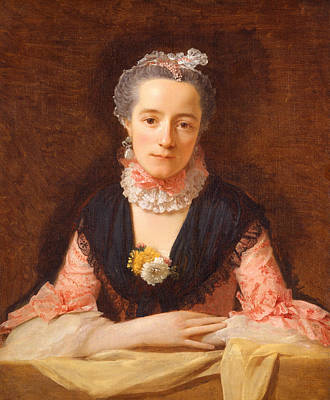 Silk Painting - Lady In A Pink Silk Dress by Allan Ramsay