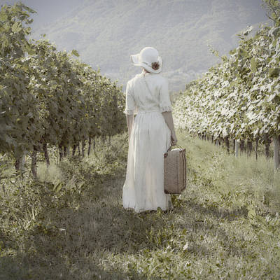 Lady In Vineyard Art Print