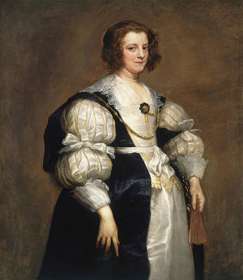 Fan Painting - Lady With A Fan by Anthony van Dyck