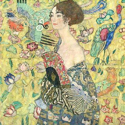 Klimt Painting - Lady With Fan by MotionAge Designs
