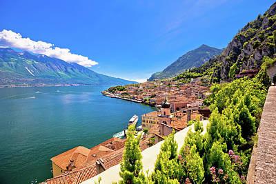 Photograph - Lago Di Garda Panoramic View In Limone Sul Garda by Brch Photography