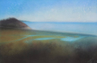 Painting - Lagoon II Or Overlooking Torrey Pines by Robin Street-Morris