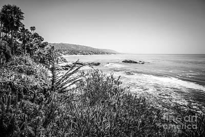 Laguna Beach Wall Art - Photograph - Laguna Beach California Black And White Picture by Paul Velgos