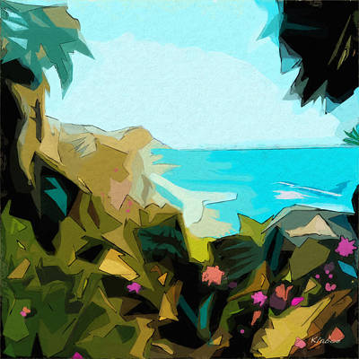 Ocean Front Landscape Digital Art - Laguna by David Klaboe