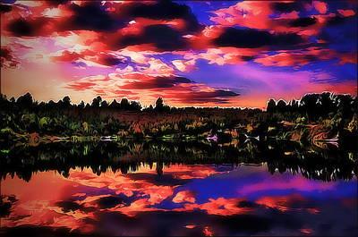 Lake Art Print by Alexey Bazhan