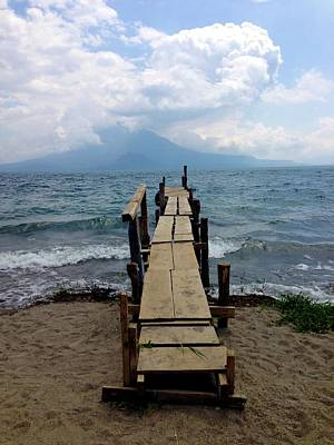 Photograph - Lake Atitlan Dock by Brian Eberly