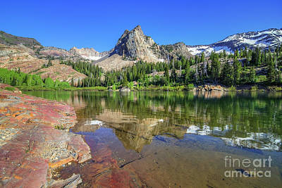 Photograph - Lake Blanche And Sundial Peak by Spencer Baugh