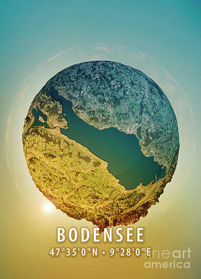 Lake Constance 3d Little Planet 360-degree Sphere Panorama Art Print by Frank Ramspott