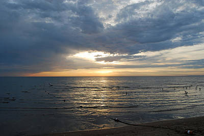 Lake Erie Sunrise Print by Peter  McIntosh