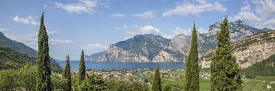 Lake Garda Gorgeous Panoramic View Art Print by Melanie Viola
