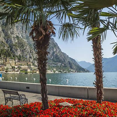 Lake Garda Gorgeous Riverside In Limone Sul Garda Art Print by Melanie Viola