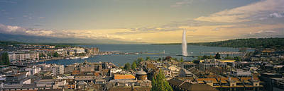 Geneva Photograph - Lake Geneva Geneva Switzerland by Panoramic Images
