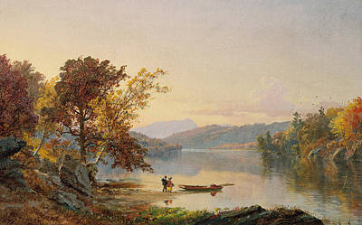 Lake George Art Print by Jasper Francis Cropsey
