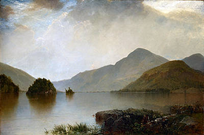 Photograph - Lake George by John Frederick Kensett
