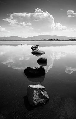 Photograph - Lake Henshaw Stepping Stones by William Dunigan