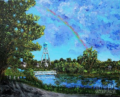 North Dakota Wall Art - Painting - Lake Hiawatha by Linda Donlin