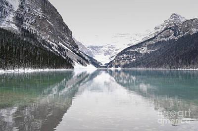 Photograph - Lake Louise Morning Mountains by Andrea Hazel Ihlefeld
