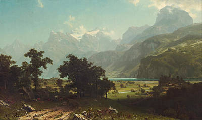 Beautiful Scenery Painting - Lake  Lucerne by Celestial Images