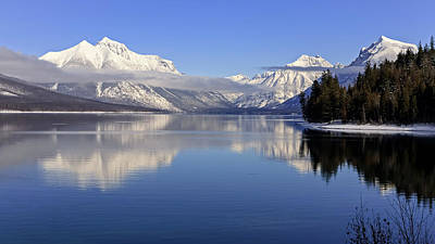 Photograph - Lake Mcdonald Winter by Jack Bell