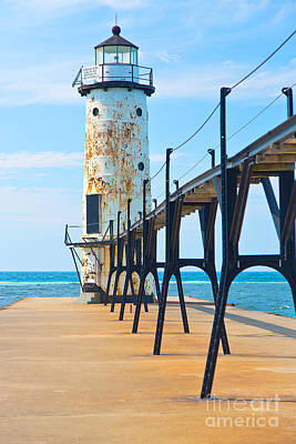 Architecture Photograph - Lake Michigan Lighthouse by ELITE IMAGE photography By Chad McDermott
