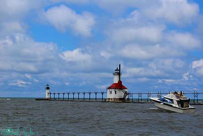 Photograph - Lake Michigan Lighthouse by Michael Rucker