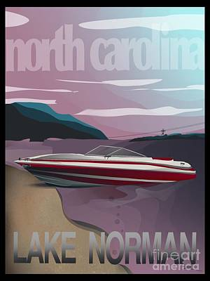Digital Art - Lake Norman Poster  by J Kinion