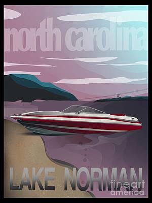 Digital Art - Lake Norman Poster  by J Kinion
