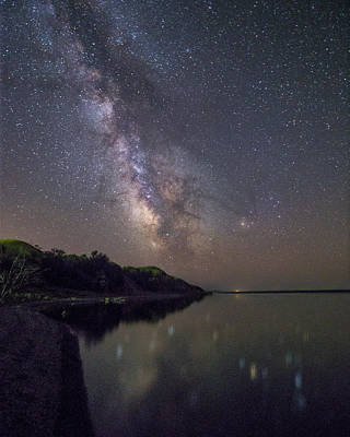 Astro Photograph - Lake Oahe  by Aaron J Groen