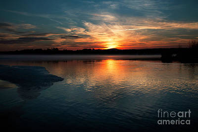 Photograph - Lake Opechee Sunset by Mim White