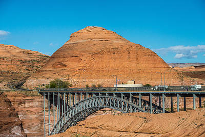 Sports Illustrated Covers - Lake Powell Dam And Bridge In Page Arizona by Alex Grichenko