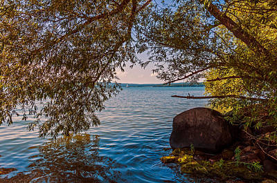 Photograph - Lake Superior From Madeline Island by Lonnie Paulson