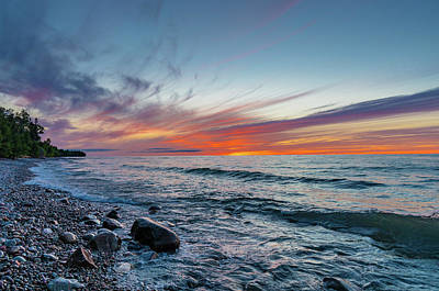 Photograph - Lake Superior Sunset by Gary McCormick