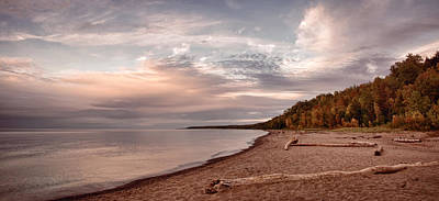 Photograph - Lake Superior Vista Toned by Leda Robertson