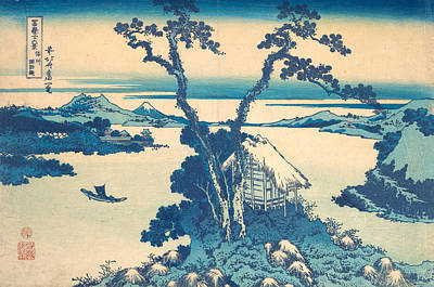 Asia Painting - Lake Suwa In Shinano Province by Katsushika Hokusai
