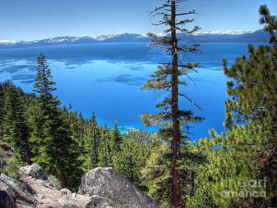 Lake Tahoe From Flume Trail Over Sand Harbor State Park Art Print by Scott McGuire