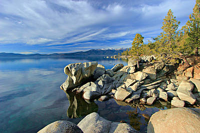 Lake Tahoe Rocks Art Print