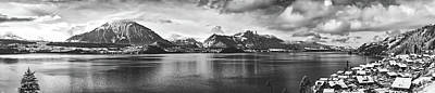 Photograph - Lake Thun And Merzligen Switzerland Panorama by Pixabay