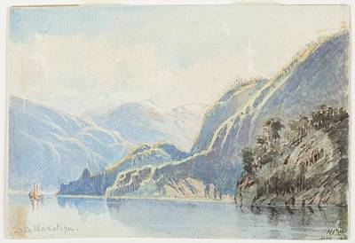 Lake Wakatipu 1866 By Nicholas Chevalier Art Print by Celestial Images