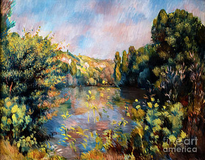 Painting - Lakeside Landscape by Auguste Renoir